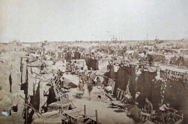 Fotografías de la mina Kimberley en el siglo XIX