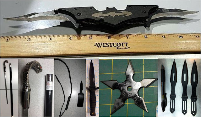Various bladed weapons