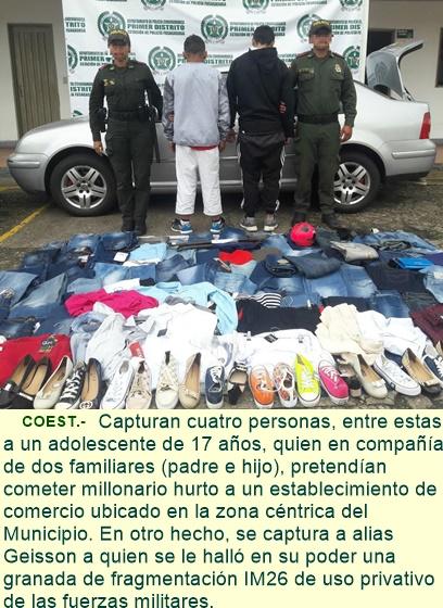 Capturados tres integrantes de una misma familia cuando pretendían cometer un millonario robo.