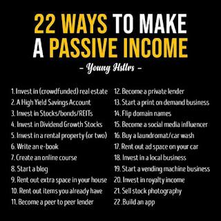 22 cách để tạo nguồn thu nhập thu động