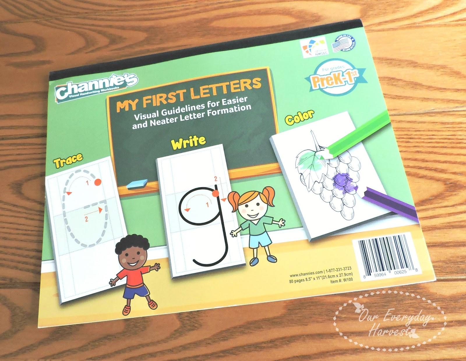 Channie S Visual Handwriting Amp Math Workbooks My First