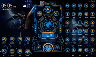 Deep Space Technology Theme for EMUI