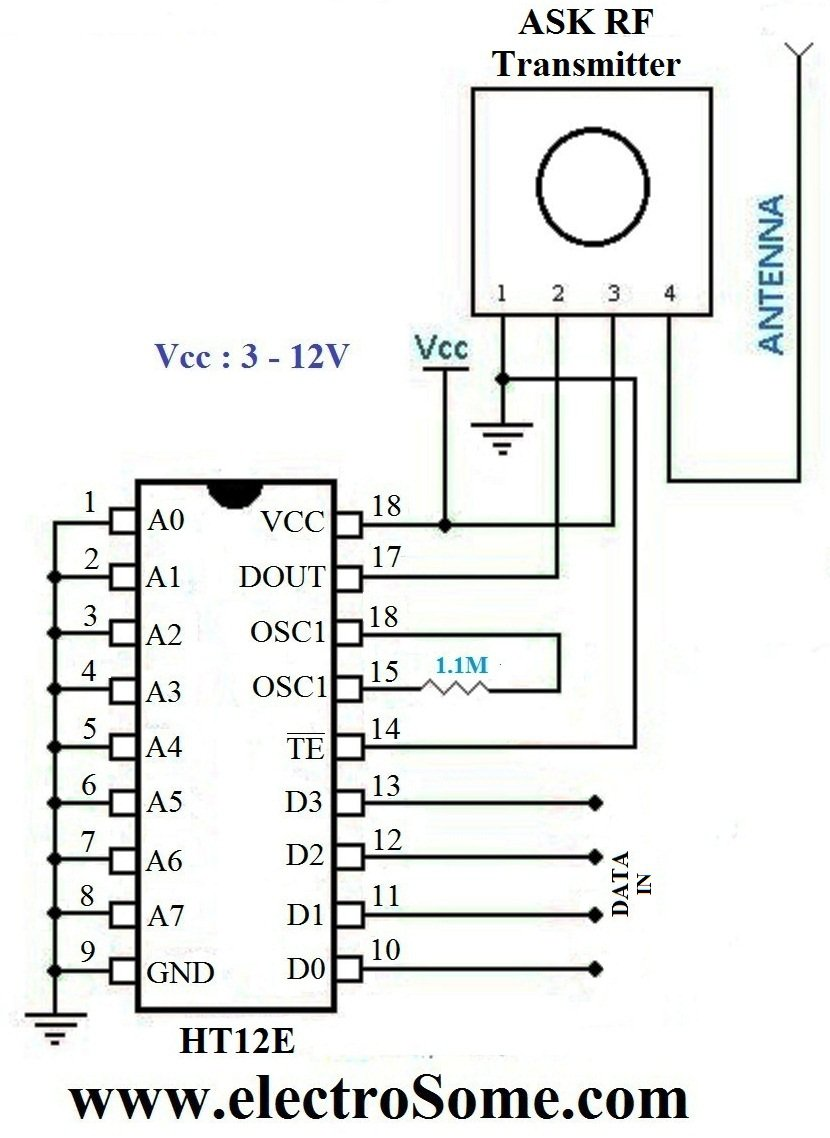 accelerometer controlled robot circuit diagram