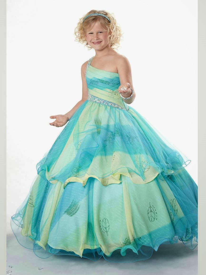Vestidos de gala para ninas 2016