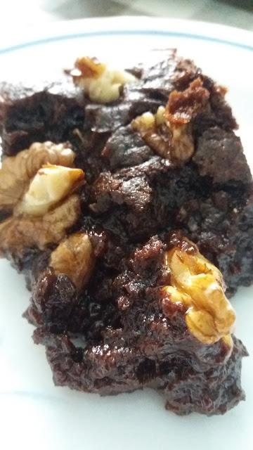 Brownie au chocolat aux noix;délicieux,extra fondant!