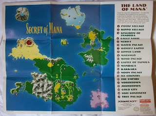 Secret of Mana - Mapa