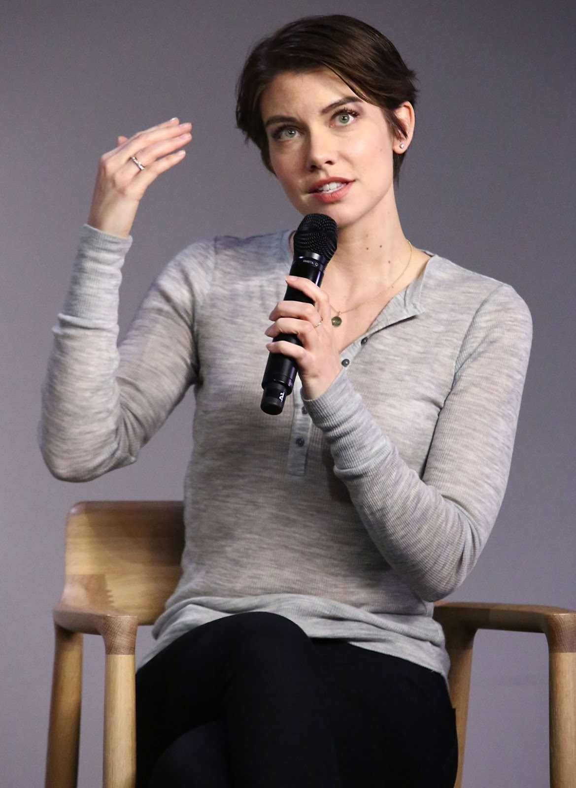 The Walking Dead actress Lauren Cohan at Meet the Actor the Walking Dead Apple Soho Store in New York