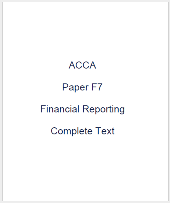 ACCA Study Materials - Kaplan Publishing - ACCA Complete ...