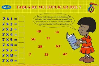 http://www3.gobiernodecanarias.org/medusa/eltanquematematico/Tablas/siete/practica7_p.html