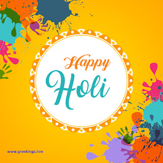 Happy Holi greetings image free download