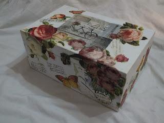 różana skrzyneczka na skarby