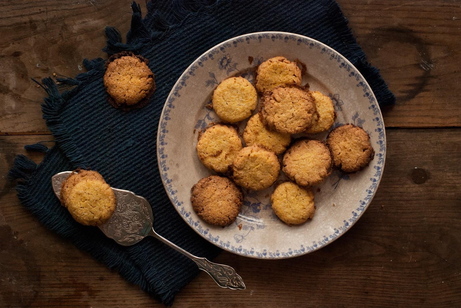 Maślane ciasteczka z polenty bezglutenowe
