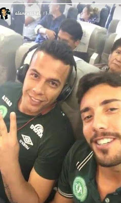 Heartbreaking plane selfies taken by two players of the Brazilian team moments before it crashed