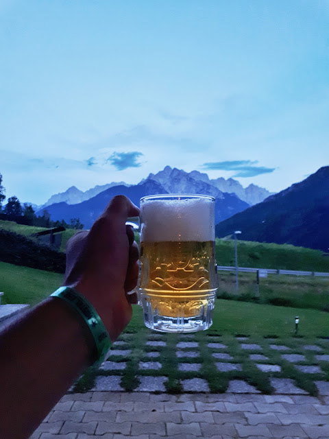 a beer in the Julian Alps, Kranjska gora, Slovenia