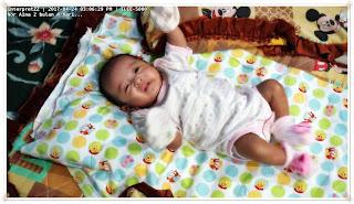 baju bayi perempuan warna pink corak rama-rama