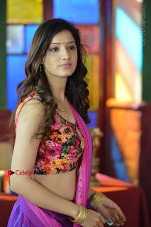 Actress Richa Panai Stills in Half Saree at Rakshaka Bhatudu Sets  0010.JPG