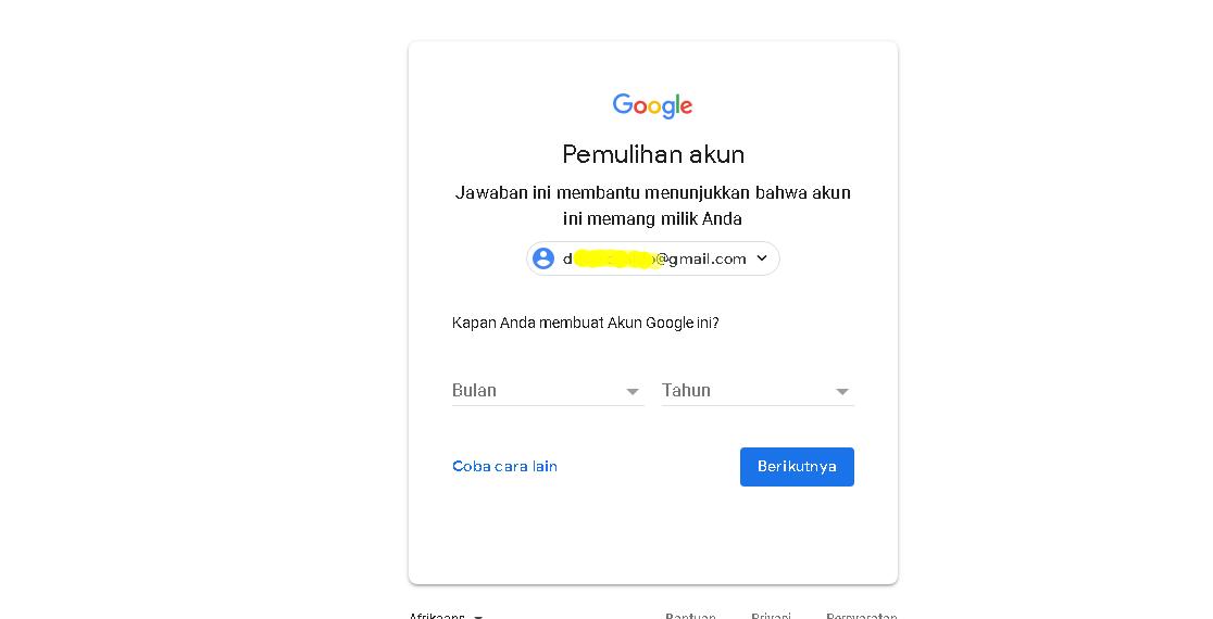 Memulihkan Akun Google Lupa Sandi Gmail Tutorial Android