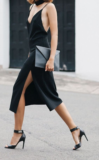 slip dress fashion street style
