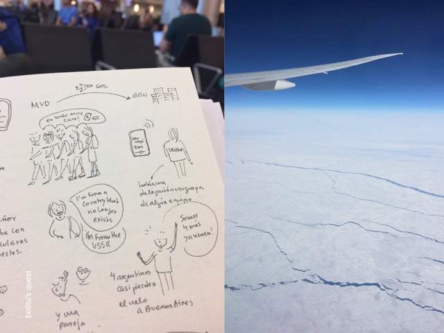 betitu's quest sketchbook - Flying over Alaska