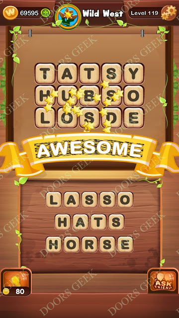 Word Bright Level 119 Answers, Cheats, Solutions, Walkthrough for android, iphone, ipad and ipod