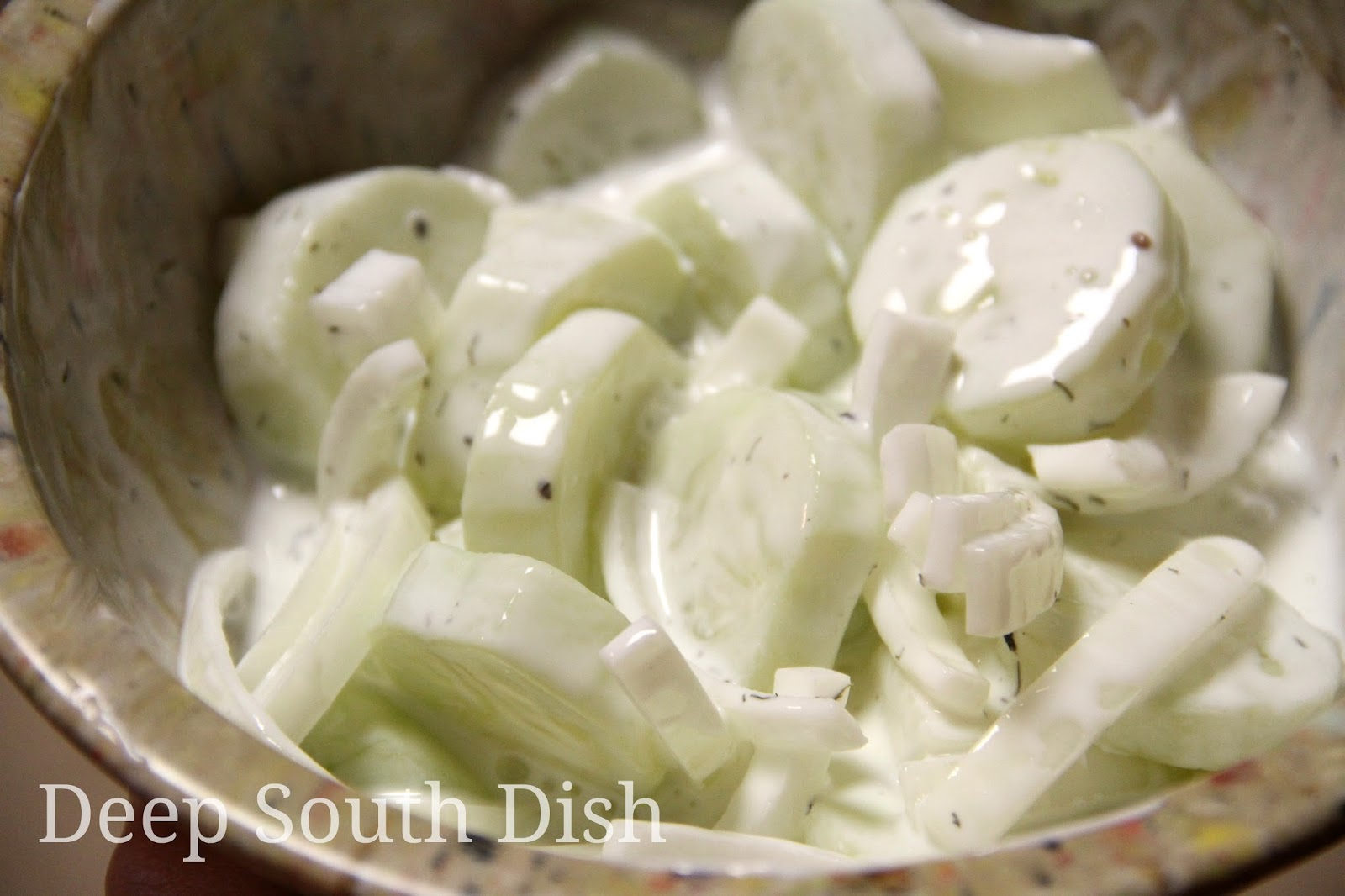 Cool And Crunchy Cucumber Salad With Red Onions Recipe — Dishmaps