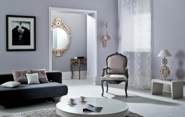 pastel purple living room