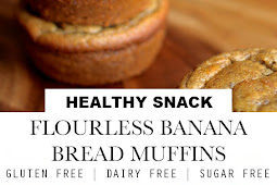 Sugar Free Flourless Banana Bread Muffins