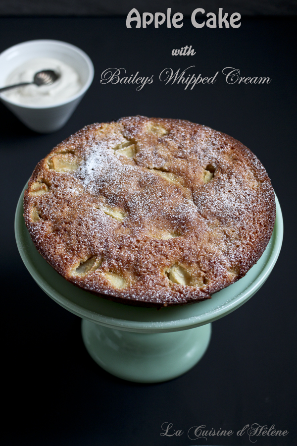 Apple Cake with Baileys Whipped Cream - La Cuisine d'Helene