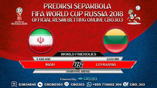 Prediksi Bola Iran VS Lithuania 08 Juni 2018