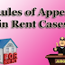 Rules of Appeal in Rent Cases