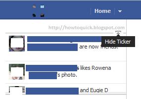 Hide Facebook Ticker Updates