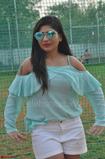 Madhulagna Das looks super cute in White Shorts and Transparent Top 31.JPG