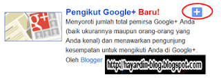 Cara pasang Gadget Google Plus Follower pada Blog