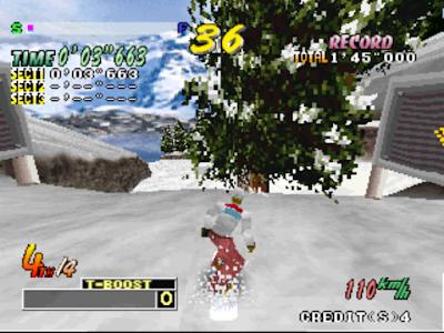 街機:極限滑雪(Cool Boarders Arcade Jamn)+作弊,極限滑板運動遊戲!