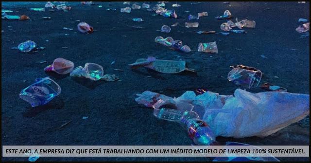 59 toneladas de lixo no segundo dia do Rock in Rio é recolhidos pela Comlurb