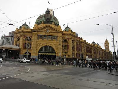 Estación Flinders Street en Melbourne