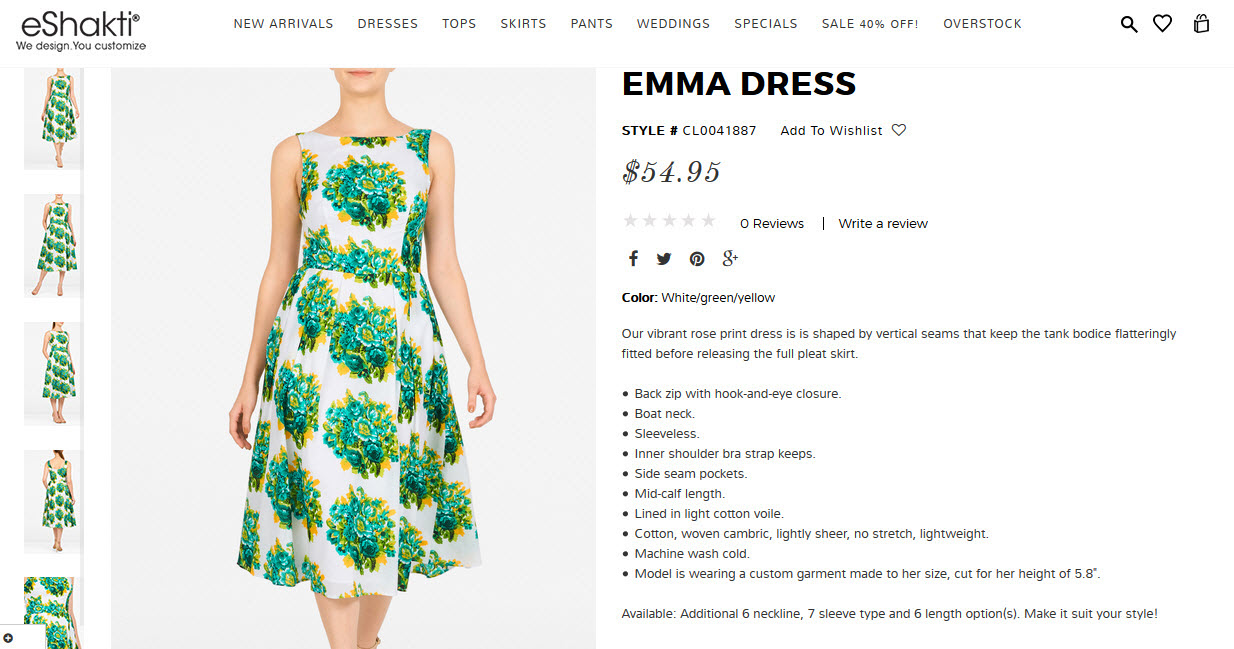 eShakti Customized Dress Buying Experience - an Unsponsored Review