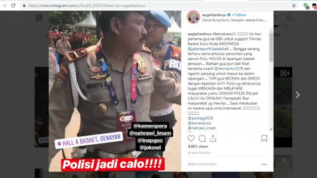 Waduh, Oknum Polisi Terekam Jual Tiket Asian Para Games