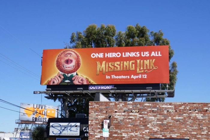 Missing Link film billboard