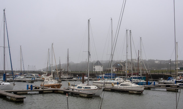PHoto of a misty start to the day at Maryport Marina on Wednesday
