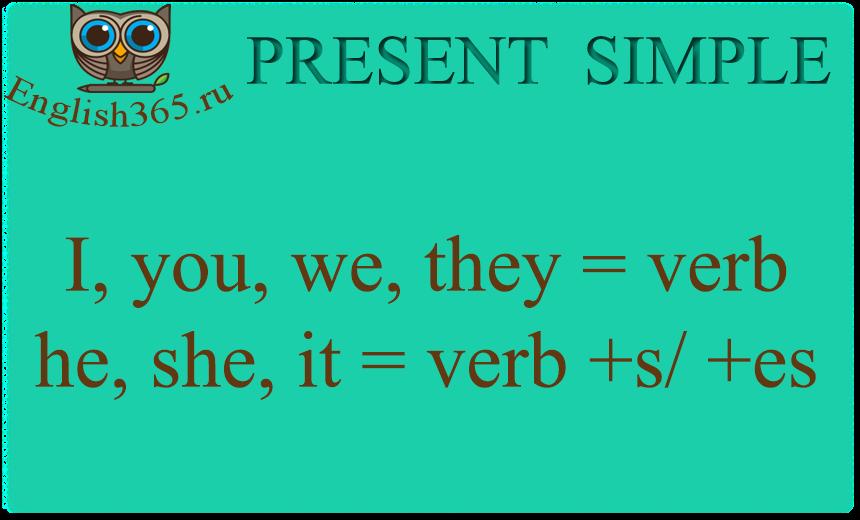 Настоящее простое время в английском языке