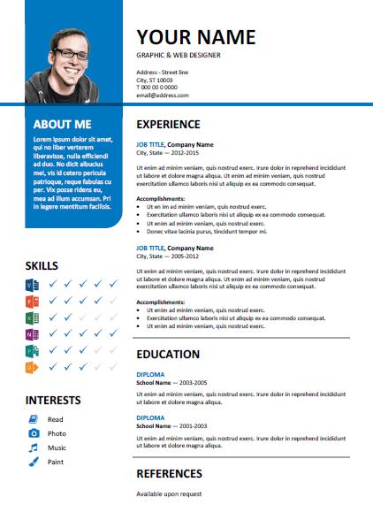 premium template resume dan cover letter percuma