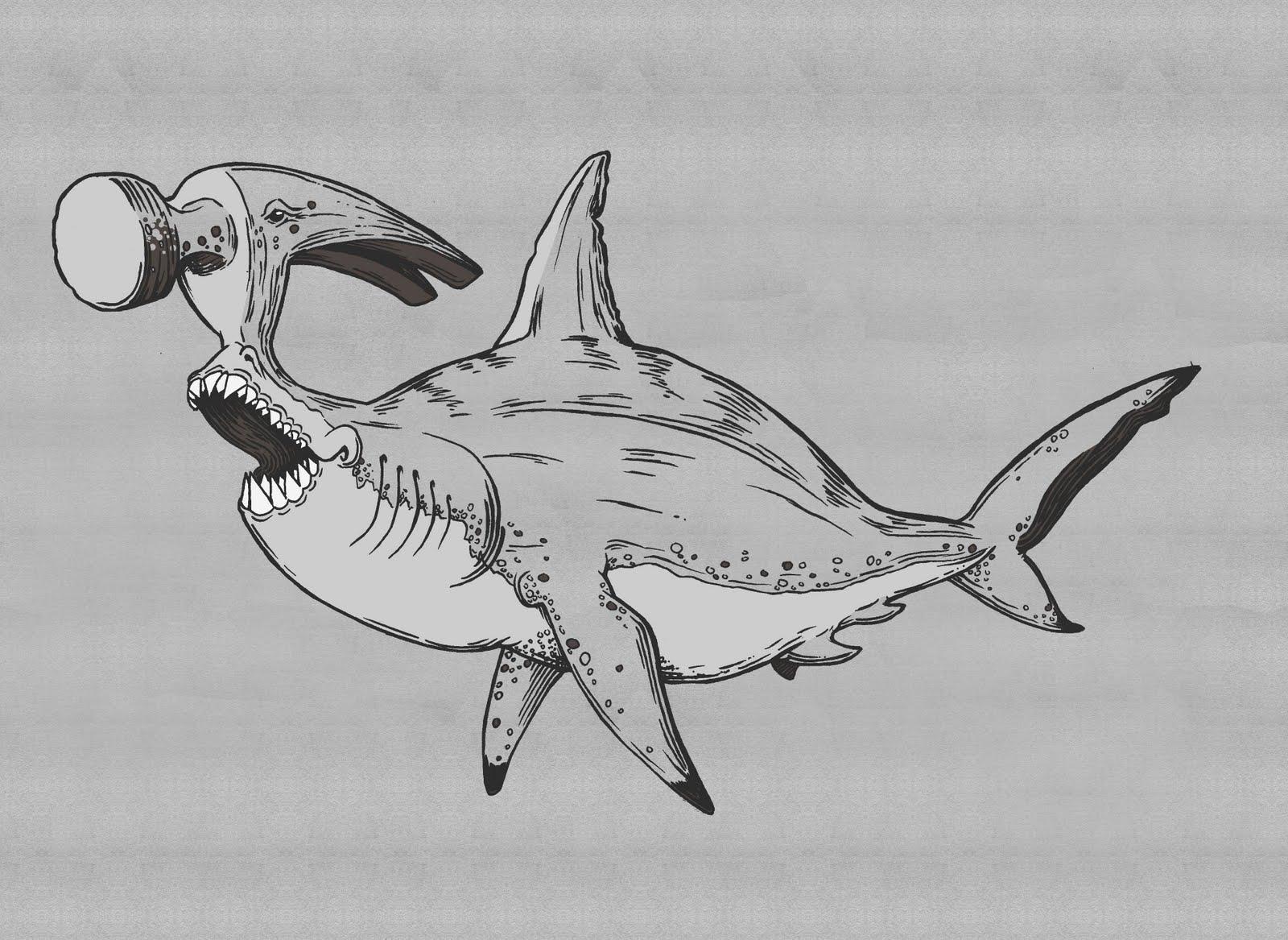Art of Chris Neuenschwander: The Great Hammerhead Shark!