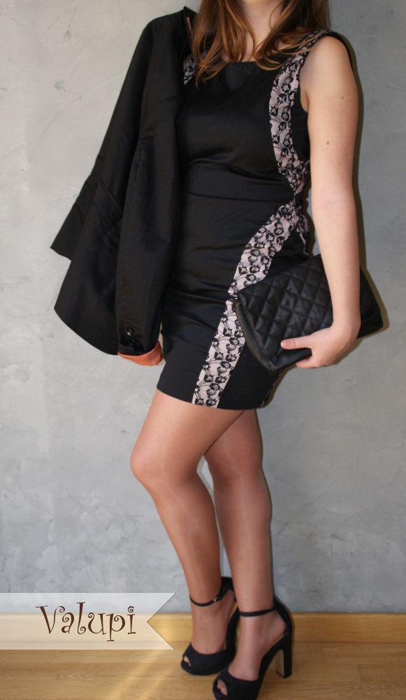 Outfit low cost  Vestido negro con encaje efe2849e4d4
