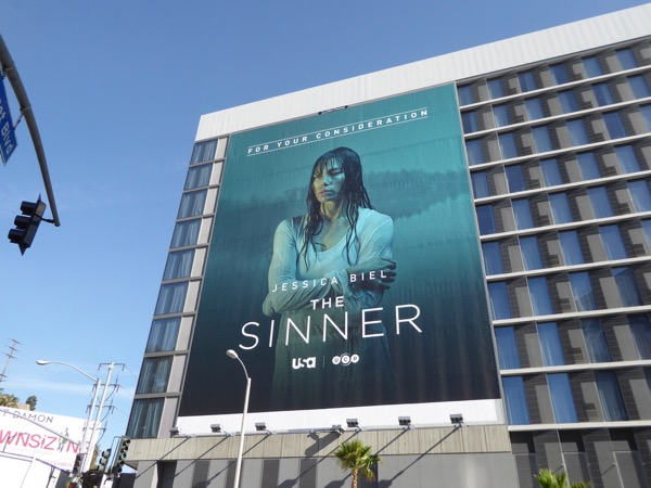 Sinner giant Golden Globes FYC billboard