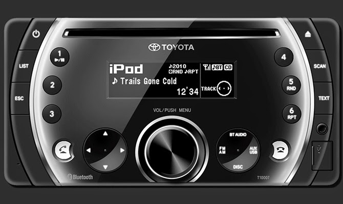 Hệ thống giải trí trung tâm trên Toyota Vios G