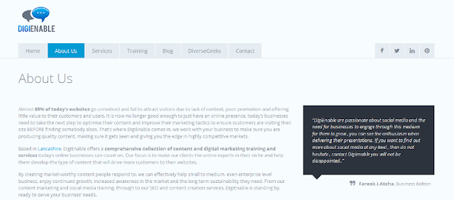 reputable provider of digital and content solutions and training services
