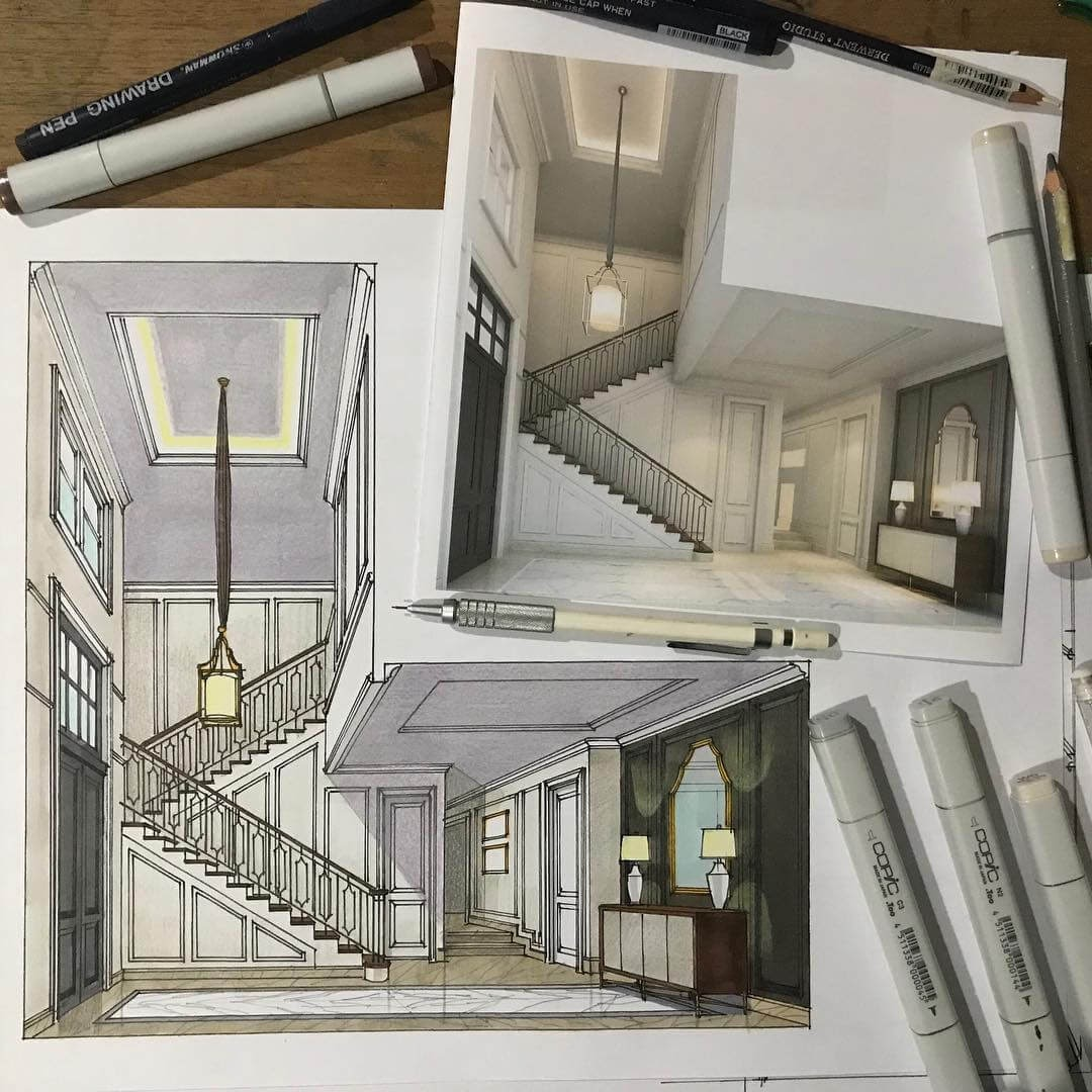 02-Manual-sketch-vs-3D-render-Yandi-Prayudhi-Interior-Design-and-Travel-Drawings-www-designstack-co