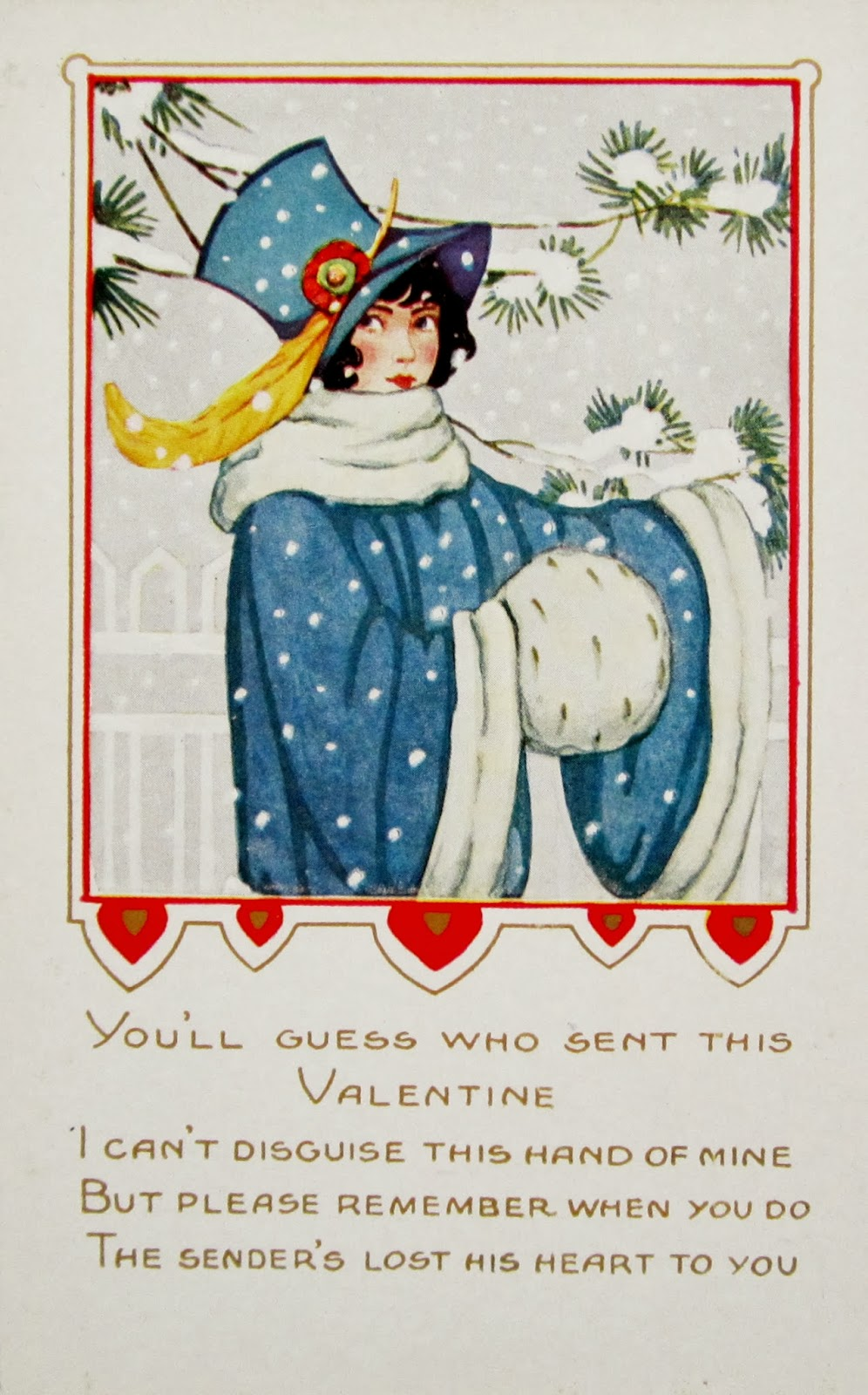 Art Deco 1920s 1930s Holiday Postcards
