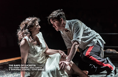 Karzyna Baljeko, Christopher Cull - Britten's The Rape of Lucretia at Guildhall School - photo Clive Barda
